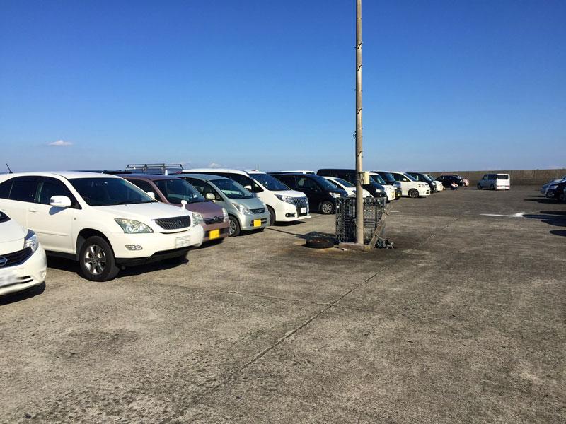 千倉漁村センターの駐車場