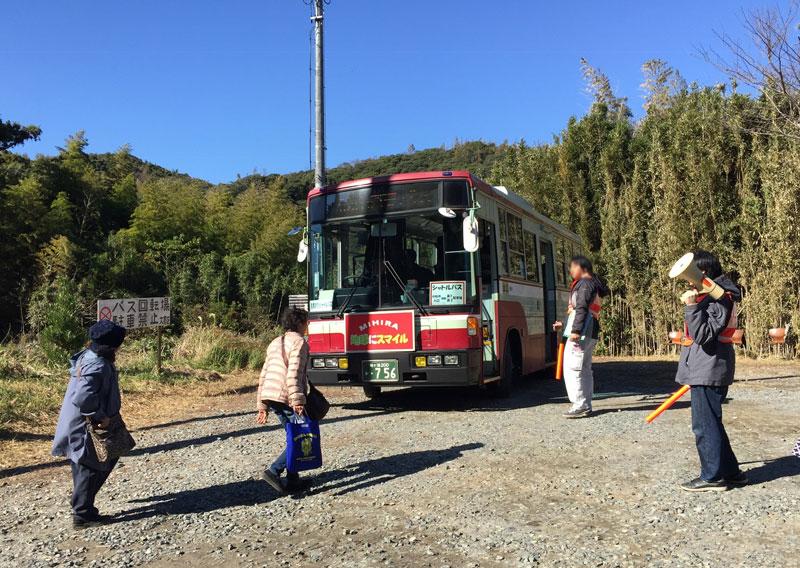 小松寺の送迎バス