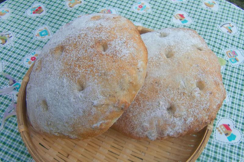 胡椒とヒマワリの種のパン
