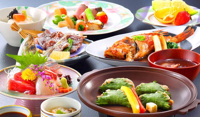 房総の地魚を味わえる夕日海岸昇鶴の海鮮料理