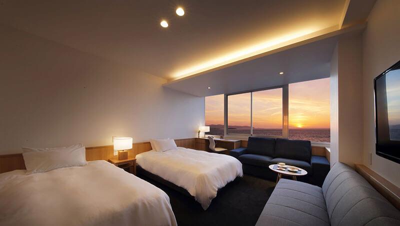 夕日海岸ホテルからリニューアルで一新した夕日海岸昇鶴のお部屋